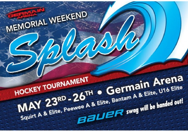 The 1st Annual Germain Arena Memorial Weekend Splash  May 23rd to May 26th, 2014.